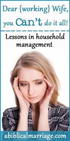 Do you struggle to make healthy meals, keep a perfectly clean house, and still have time for hubby {among 30 other things on your to do list}? Dear working wife...you CANT do it all! Here are a few household management lessons Ive learned!