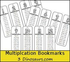 We have been using lots of bookmarks at our house lately. These multiplication bookmarks are a great way to work on math facts. Teaching Schools, Teaching Math, Teaching Ideas, Teaching Multiplication, Multiplication Strategies, Fourth Grade Math, Math Intervention, Math Practices, Guided Math