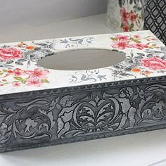 Салфетница декупаж — купить на Ярмарке Мастеров с доставкой Tissue Box Covers, Tissue Boxes, Decoupage Paper, Craft Videos, Projects To Try, Arts And Crafts, Bottle, Trays, Fun
