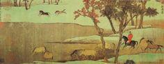 Mongolian Empire Painting Юан гүрний уран зураг-Yuan rule Painting(1271-1368)