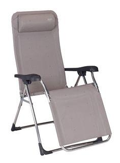 Crespo AL-341: Tumbona Gran Relax aluminio, tejido multifibra, multiples posiciones.  Aluminium relax deckchair, multifiber fabric, multiple positions.