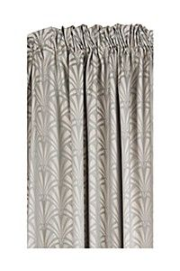 COTTON JACQUARD ART DECO 230X218CM TAPED CURTAIN