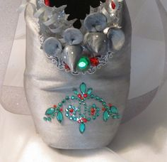 Nutcracker mouse decorated pointe shoe. by DesignsEnPointe on Etsy, $35.00 ---Mice peeking out of shoe!!!!