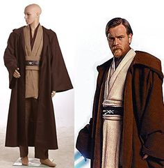 costume party costume ideas on sale at reasonable prices, buy Star Wars Obi-Wan Kenobi Jedi TUNIC Cosplay Costume Cosplay Men from mobile site on Aliexpress Now! Jedi Cosplay, Jedi Costume, Soldier Costume, Traje Jedi, Jedi Outfit, Star Wars Halloween, Halloween Cosplay, Halloween Carnival, Halloween 2014