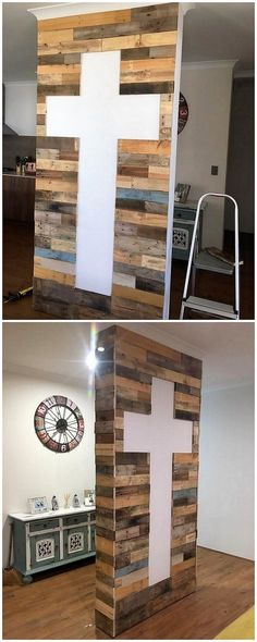 This image will make you show out the excellent recycling idea that is in the shape of the pallet wall variation. It would look creative and much eye-catching looking for the outsiders who might catch such an innovative idea for the first time.
