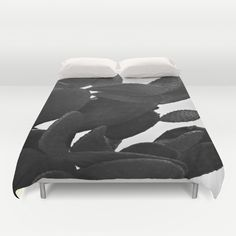 Cactus in Black And White #DuvetCover by ARTbyJWP from Society6 #duvet #bedroom -  Cover yourself in creativity with our ultra soft microfiber duvet covers. Hand sewn and meticulously crafted, these lightweight duvet covers vividly feature your favorite designs with a soft white reverse side. A durable and hidden zipper offers simple assembly for easy care - machine washable with cold water on gentle cycle with mild detergent. Available for King, Queen and Full duvets - duvet insert not…