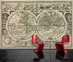Antique world map wallpaper wallpapersafari song of songs self adhesive old world map decorating photo wall mural wallpaper peel and stick art 544 gumiabroncs Images