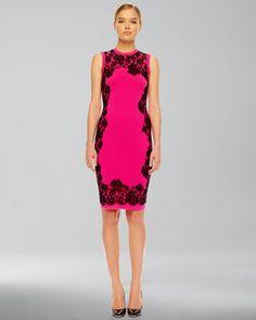 Lace-Print Cashmere Dress by Michael Kors at Bergdorf Goodman.