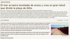 Playa de Miño: El talud del 2001