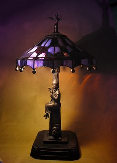 Haunted Mansion Stained Glass Lamp - I need at least one gothy room for fun! Maybe my office?