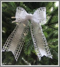 Silver wire edged bow 'Lucie' http://stores.ebay.co.uk/Typically-Unique-Flowers-and-Gifts?_rdc=1