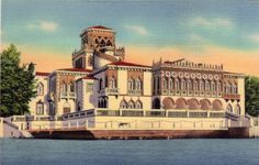 Vintage Florida Postcard - Ringling Mansion, Sarasota (Unused), via Etsy.