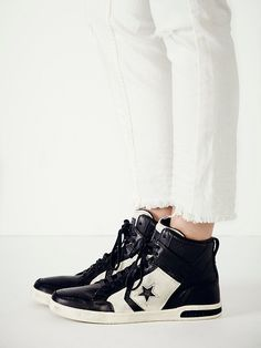 Trendy Womens Sneakers : Converse x John Varvatos JV Weapon Leather Hi Tops at Free People Clothing Bouti