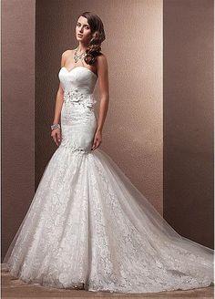 Glamorous Lace Mermaid Wedding Dress