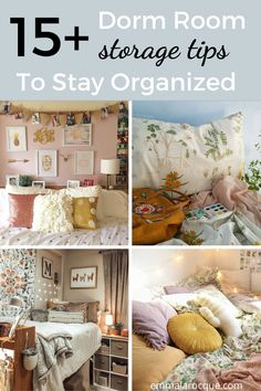 All of the storage and organization products that you need for your college dorm room! Here, you'll find ideas for your closet, desk, and under bed. These hacks are the best space saving storage options! Tips on things like shelves, ways to store your clothes, and just how to organize you college dorm room in a minimalist way. Click to see all 15! #college #dormroom #storage #organization College Dorm Organization, Storage Organization, College Hacks, Organizing Ideas, Girl College Dorms, College Dorm Rooms, Dorm Room Storage, Space Saving Storage, Closet Desk
