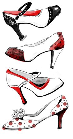 I draw and paint shoes from time to time and am sharing some here. Fashion Illustration Shoes, Fashion Illustrations, Fashion Shoes, Fashion Accessories, Fashion Painting, Shoe Art, Painted Shoes, Vintage Shoes, Fashion Sketches