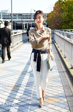 社外ミーティングの日は腰巻きカーデスタイルで【再アップ】1#fashion #coordinate #ファッション #コーデ