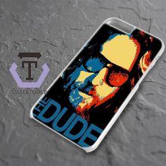 Red Blue Big Lebowski The Dude iPhone 6 Plus|iPhone 6S Plus Black Case