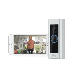 Ring Video Doorbell Pro, Works with Alexa (existing doorbell wiring required). Update and replace your existing doorbell in just minutes with our included tool kit and simple instructions. Ice Cubes, Best Smart Home, Cool Tech Gifts, Ring Video Doorbell, Alexa Device, Home Camera, Pro Camera, Surveillance System, Works With Alexa