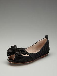 Courtney Peep-Toe Flat by Bloch on Gilt
