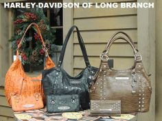 THESE BAGS ARE AMAZING!!! A favorite of our General Merchandise staff, these fashionable bags by Leather Accessory Inc. are a must-have for her. Harley-Davidson/Buell of Long Branch www.hdlongbranch.com