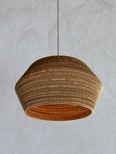 cardboard lampshade Disco 60 by casador on Etsy