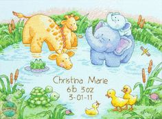 Dimensions Baby Hugs - Little Pond Birth Record - Cross Stitch World