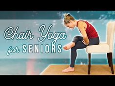 Yoga for Seniors ♥ Chair Stretches for Pain Relief, Relaxation, Joint Health, Flexibility, Stress Yoga Fitness, Senior Fitness, Physical Fitness, Stretching Exercises For Seniors, Chair Exercises, Fitness Tips For Men, Fitness Plan, Fitness Motivation, Stress Yoga