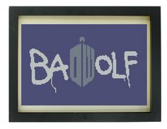 Bad Wolf Doctor Who Cross Stitch Pattern