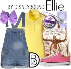 This young Ellie outfit is perfect for a summer day.  | Disney Fashion | Disney Fashion Outfits | Disney Outfits | Disney Outfits Ideas | Disneybound Outfits | Up! Outfit |