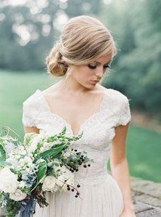 Bridal Poses, Bridal Portraits, Modest Wedding, Wedding Gowns, Wedding Bouquets, Wedding Dress Necklines, Wedding Dresses With Flowers, Bridal Style, Wedding Inspiration