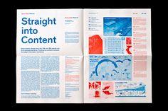 Swiss Style Reboot: Brochure on Editorial Design Served Editorial Design Magazine, Magazine Design Inspiration, Graphic Design Inspiration, Page Layout Design, Graphic Design Layouts, Book Design, Design Posters, Design Design, Brochure Layout