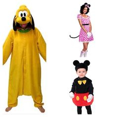 Disney Mickey Mouse Clubhouse themed family costumes- Pluto Minnie and Mickey  sc 1 st  Pinterest & Disney mickey mouse clubhouse family halloween costume 2015: Donald ...