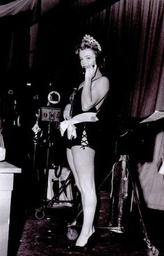 Marilyn on the set of We're Not Married, 1952.