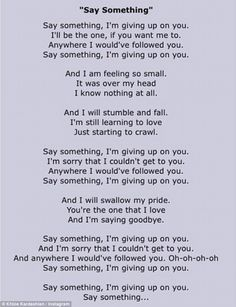Song, by A Great Big World and Christina Aguilera, refers to somebody's unwillingness to let go of a lost love