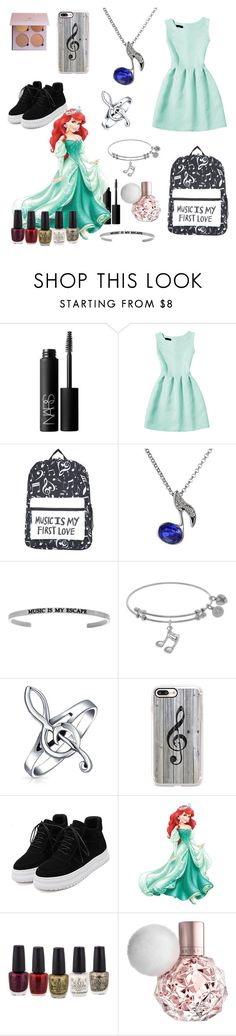 """The Little Mermaid- Back To School❤"" by rabbitzzfashion ❤ liked on Polyvore featuring NARS Cosmetics, Bling Jewelry, Casetify, WithChic and York Wallcoverings"