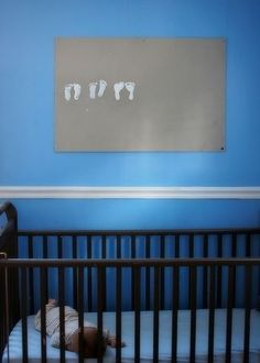 So going to do this when we become foster parents. Keeping track of the foot prints in the crib!