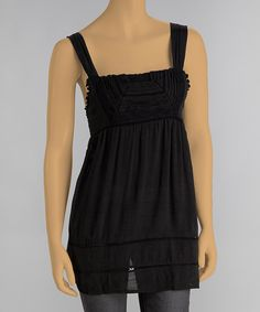 Look at this Black Sash Square Neck Tank on #zulily today! 16.99