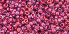 Toho 11/0 Round Japanese Seed Bead, TR11-304, Inside Color Light Sapphire/Hyacinth Lined