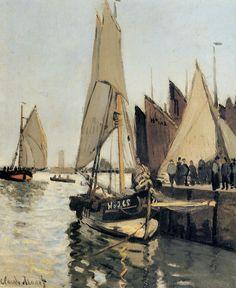 Sailing Boats at Honfleur ~ Claude Monet ~ 1866
