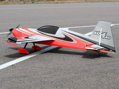 "55"" EDGE 540 EPP Full Fuse Electric Aerobatic RC Plane Red"