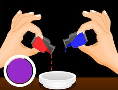 How To Make Diffe Colors With Food Coloring Purple 1 Drop Blue 3