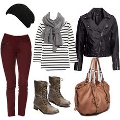autumn fashion with different bag and jacket