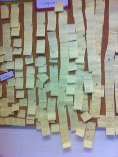 Sticky note prewriting for This I Believe essay in DMACC Comp I class: Students… Expository Writing, Essay Writing Tips, Writing Classes, Writing Strategies, Pre Writing, Writing Workshop, Teaching Writing, Teaching English, Narrative Writing