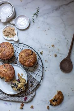 For Your Monday Morning Blues: Blueberry & Cream Cheese Rye Muffins