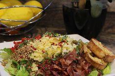 Farmhouse Chopped Salad with Beer Basil Garlic Dressing Soup And Salad, Pasta Salad, Beer Recipes, Chopped Salad, Hoppy Brewing, Vinaigrette, Basil, Potato Salad, Garlic