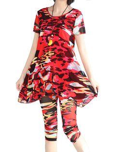 2PCS Sexy Floral Casual Yoga Suits2PCS Sexy Floral Casual Yoga Suits