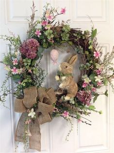 Door wreath heart shape Door wreath in a different way Easter decoration spring Easter door wreath spring decoration Boxi box spring bed Dried flower wreaths – # – Dried flower wreaths – # – wreath Floral wreath illustration with bullet journaling Deco Floral, Diy Wreath, Wreath Ideas, Wreath Burlap, Easter Crafts, Easter Decor, Easter Bunny Decorations, How To Make Wreaths, Spring Crafts