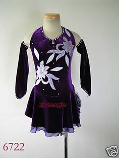 Nice custom Figure skating Competition dress on eBay!