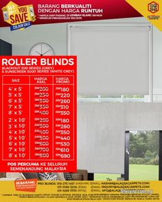 Other for sale, RM180 in Klang, Selangor, Malaysia. Save Your Money Today By Great We Save You Save Sale For Roller Blinds!!!    Great Quality Roller B